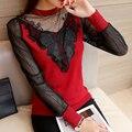 6764-novo ARCO RENDAS camisola das mulheres