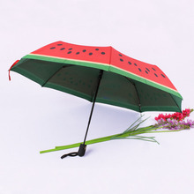 Creative double-layer automatic umbrella printing watermelon creative personality fruit pattern two-color