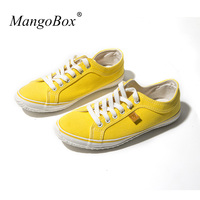 Luxury Brand Fashion Male Footwear Low Top Canvas Shoe Walking Shoes For Light Weight Yellow Green