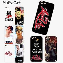 MaiYaCa Mgk Machine Gun Kelly Lace Up New Arrival Fashion phone case cover for iPhone 8 7 6 6S Plus X 10 5 5S SE XS XR XS MAX(China)