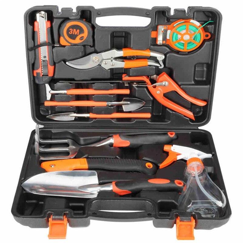 12 in 1 Garden hand tools set shovel rake shovel gardening tool box flower plants planted