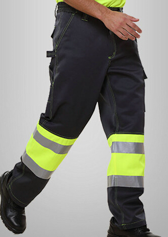 men's reflective pant with side pockets mens cargo pants men's safety working pant Mens High Visibility Trousers orange 1pcs 3