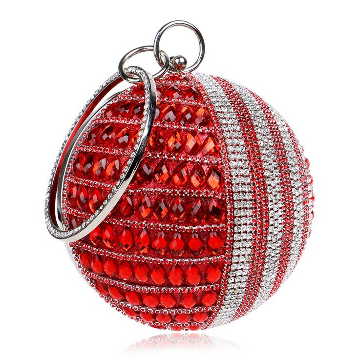 New Round Pearl Beaded Evening Bags Womens Pearl Beads Clutch Bags Handmade Wedding Bags red Gold Diamonds purse Party bagsNew Round Pearl Beaded Evening Bags Womens Pearl Beads Clutch Bags Handmade Wedding Bags red Gold Diamonds purse Party bags