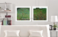 Landscape Frameless Paintings Pastoral Canvas Paintings Masterpiece Reproduction Field Of Poppies By Gustav Klimt