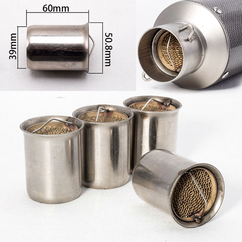 universal 51mm front end db killer for motorcycle exhaust muffler db killer silencer noise sound. Black Bedroom Furniture Sets. Home Design Ideas