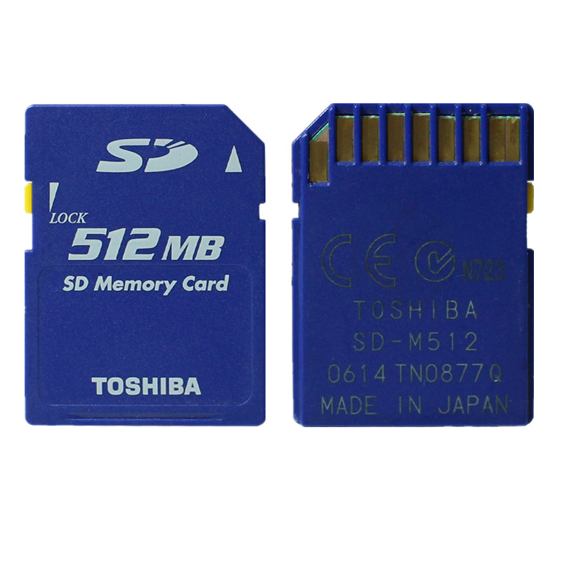 5PCS 512MB Toshiba SD Card 512MB SD Card Standard Secure