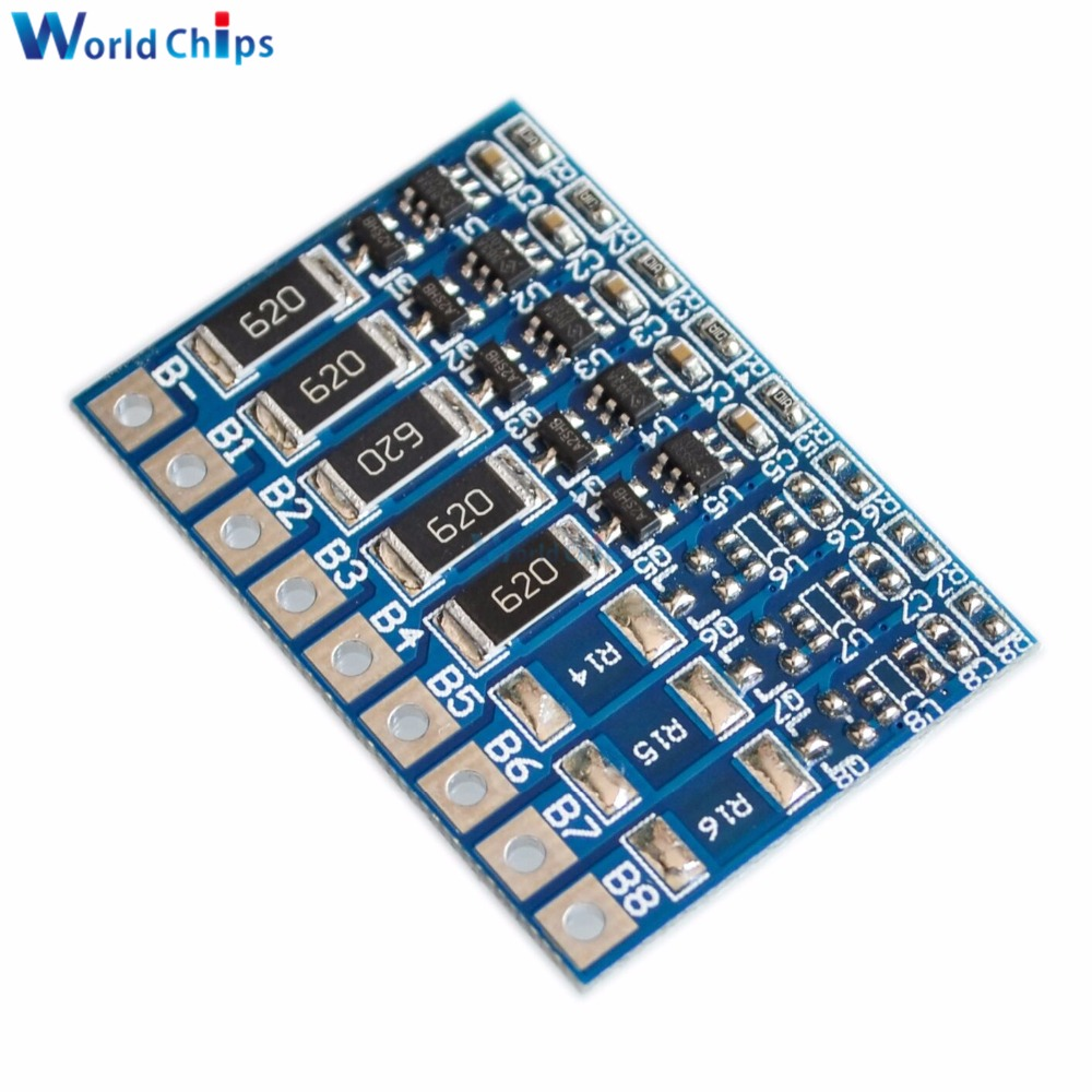 5s 21v 42v Balance Function Protection Board 68ma Li Ion Lipo Balancer Seven Segments Battery Lithium 18650 Batteries Balanced 3s 4s 6s 7s 8s In Integrated Circuits From