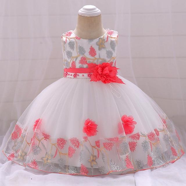 b60a0bc61a3 2019 nuevo vestido de bebé niña vestido de bautismo para niña Infante 1 año  vestido de