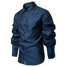 Stage Mens Dress Shirts Unique Sleeve design Crocodile pattern Hawaiian Shirt clothing Blouse Men