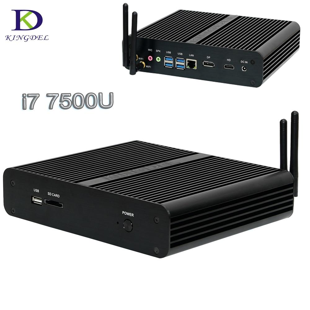 2017 Mini PC Intel Core i7 7500U 7th Gen Kaby Lake Mini Desktop computer HDMI DP