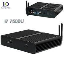 2017 Mini PC Intel Core i7 7500U 7TH Gen kaby Lake мини настольный компьютер HDMI + DP + SD 4 К HTPC безвентиляторный NUC мини-компьютер 8 г Оперативная память