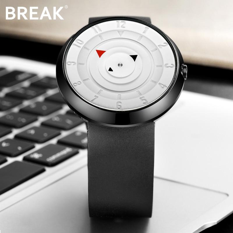 4b1441303867 Descanso de las mujeres de los hombres creativo fresco minimalista  impermeable Unisex de cuarzo correa de caucho reloj de pulsera moda Casual  relojes ...