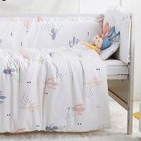 7PCS Full Set Kids Baby Crib Bedding Sets For Girl Boys Cot Nordic Style Baby Crib