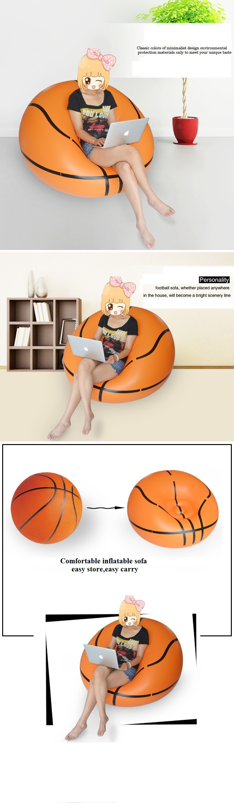 Basketball Chairs Us 62 2 Inflatable Sofa Bean Bag Sofa Basketball Sofa Living Room Furniture Lazy Sofa Home Furniture Bedroom Furniture Inflatable Stool In Living