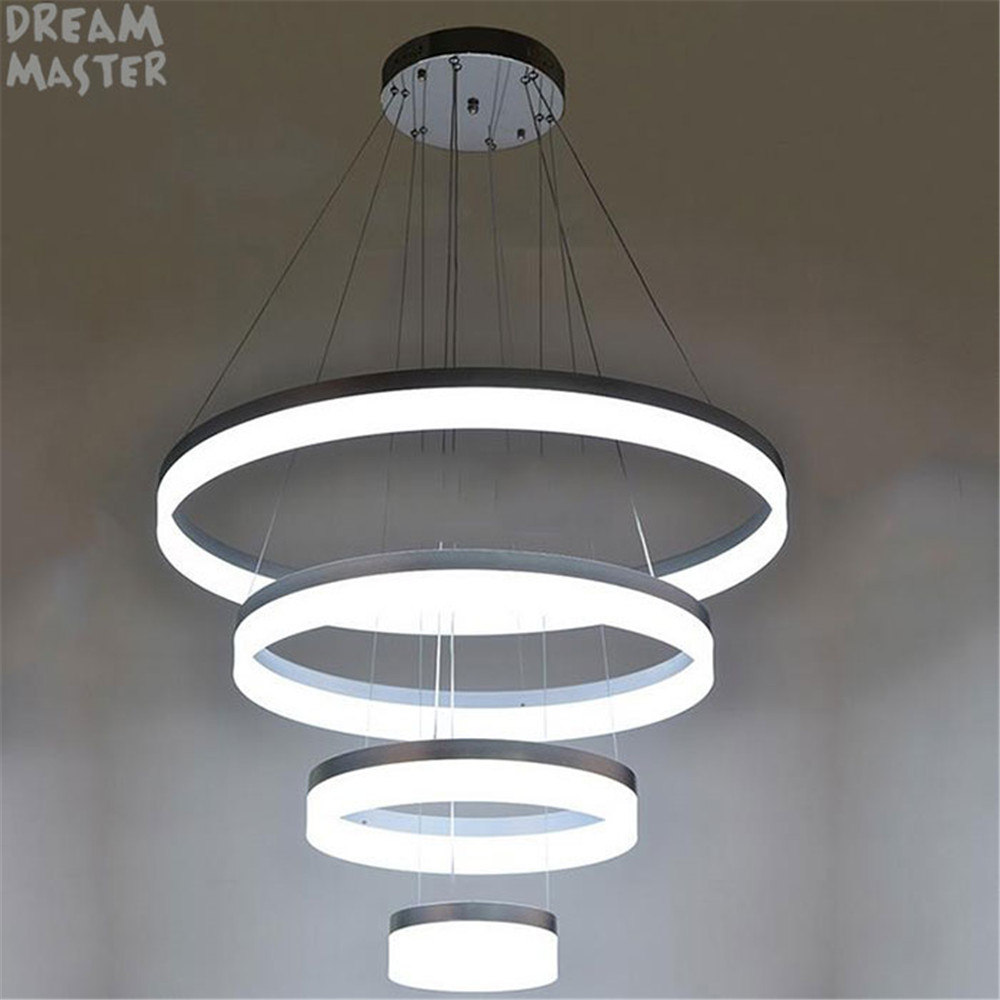 76W Acrylic Aluminum Led chandeliers light for living room D20 D40 D60 D80cm 4 rings big hanging chandelier large modern lustres samoon by gerry weber пиджак