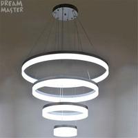 76W Acrylic Aluminum Led chandeliers light for living room D20 D40 D60 D80cm 4 rings big hanging chandelier large modern lustres