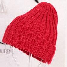 Шапки Новая модная зимняя качественная акриловая шапка вязаная шапка остроконечная шапка для женщин/женщин 19 цветов