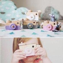 Новые модные детские милые деревянные игрушки с камерой, аксессуары для детской одежды, безопасные и натуральные детские игрушки, подарок на день рождения, Рождество