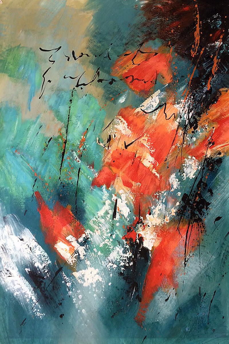 Compra Verticales abstractos pinturas online al por mayor