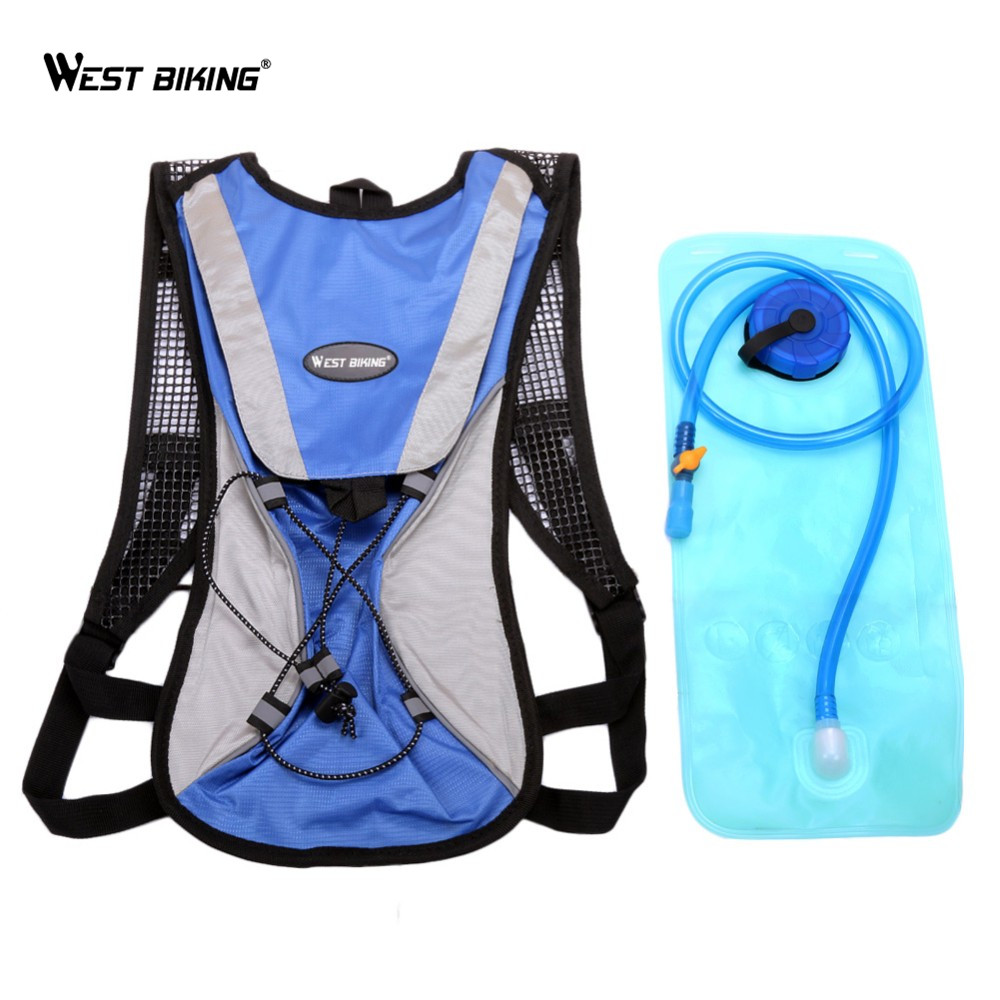 WEST BIKING Stronger Hydration Backpack + 2.5L Water Rucksack, Lightweight Bag for Riding Camping Mountaineering, 5 Colors