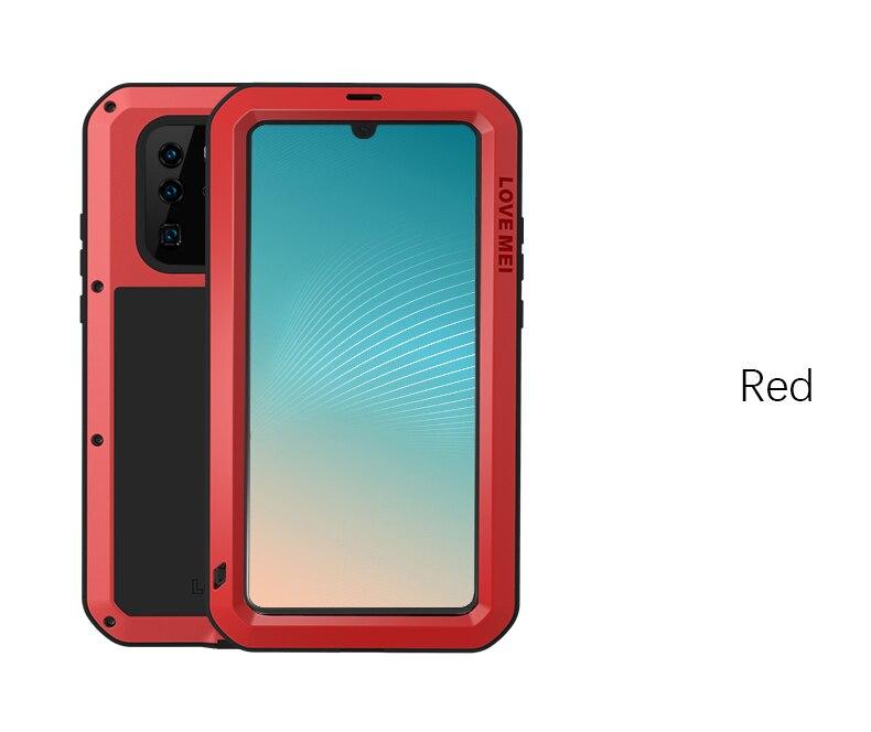 AMOUR MEI Métal Étanche étui pour Huawei P30 pro Antichoc Couverture Pour Huawei P30 Pro Cas En Aluminium Protection P30 pro - 4