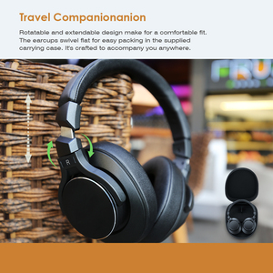 Image 4 - Mixcder E8 bezprzewodowa aktywna redukcja szumów Bluetooth słuchawki z mikrofonem nauszny zestaw słuchawkowy z głęboki bas dla TV PC telefony