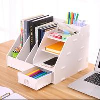 Yaratıcı DIY Ev Masaüstü Çekmece Saklama Kutusu Ofis Malzemeleri Dosya Dergisi Bitirme Rafları