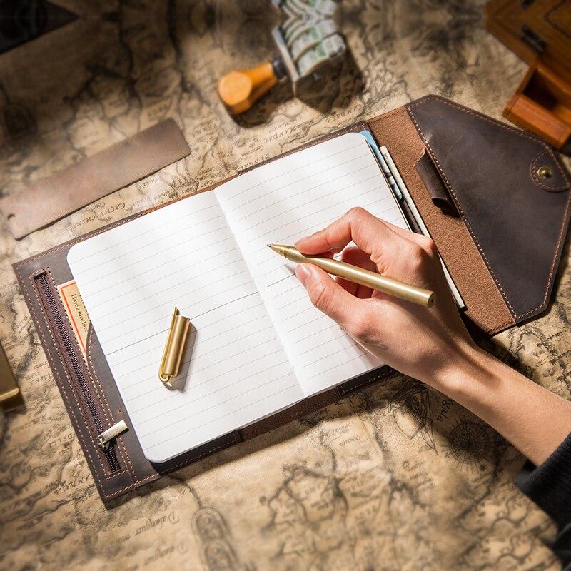 Traveler โน้ตบุ๊ควางแผนสร้างสรรค์ agenda กระเป๋า Travel Journal ไดอารี่ Handmade มัลติฟังก์ชั่ A5 A6 Notepads ของขวัญ 2019-ใน สมุด จาก อุปกรณ์ออฟฟิศและการเรียน บน   3
