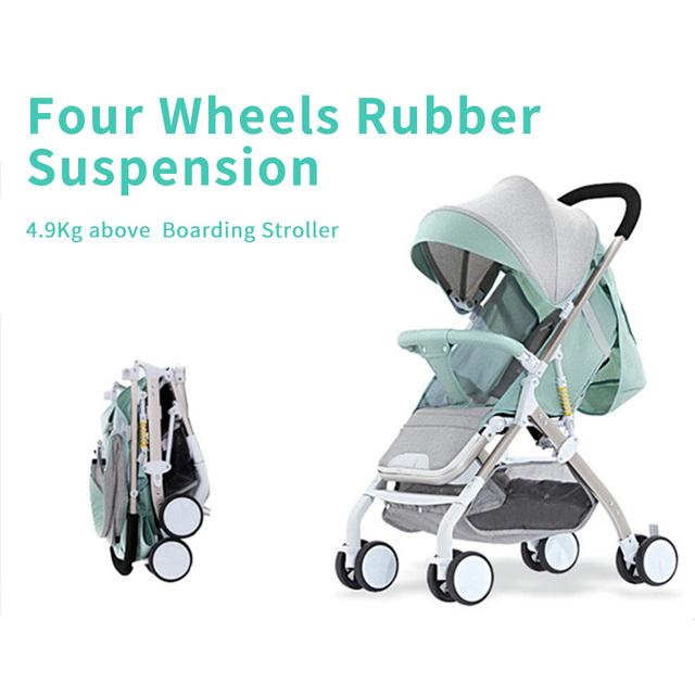 HOTMOM 5.6 kg Ultra-light portable baby stroller umbrella folding prams For Plane Travel Newborns Baby Pushchair send 8 gifts