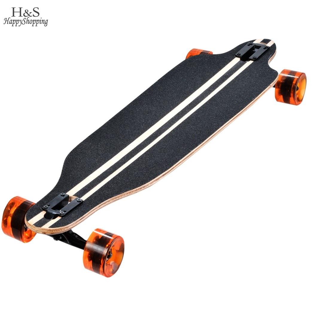 ФОТО Ship From Spain Maple Professional Skateboard Road Longboard Skid Resistance Skate Board 4 Wheel Drop Downhill Speed Long Board
