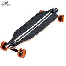 Ship From Spain Maple Professional Skateboard Road Longboard Skid Resistance Skate Board 4 Wheel Drop Downhill Speed Long Board