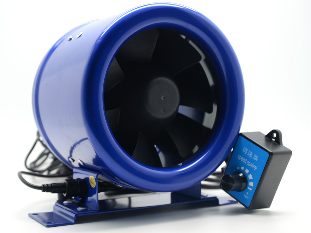 6 Inline fan Duct fan Booster Fan w/ Speed Controller Exhaust Blower 6 Inch