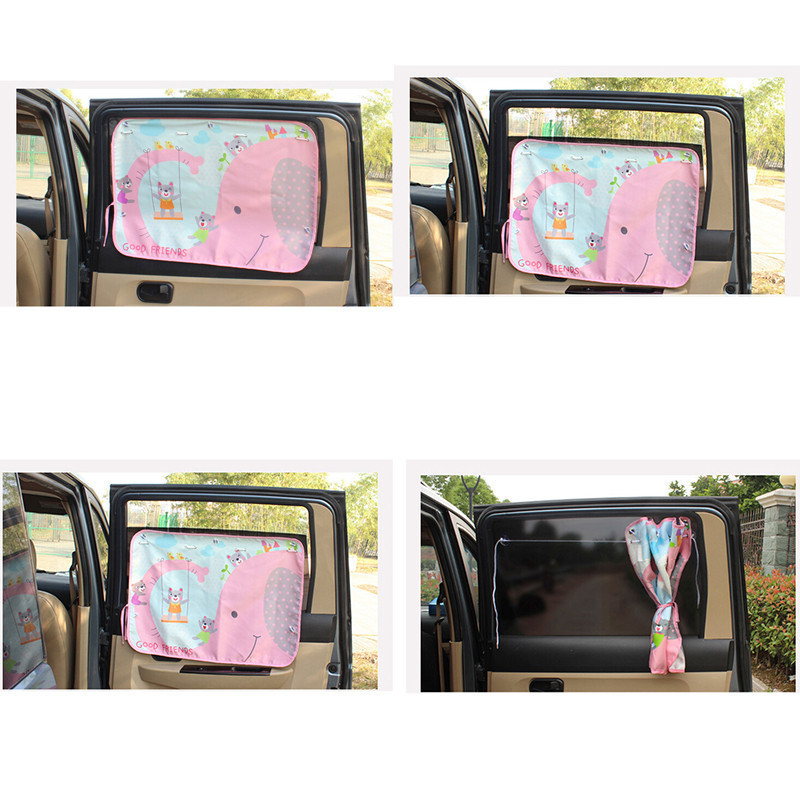Image 4 - pare soleil voiture Car Side Window Sunshade Cartoon Curtain sun visor UV Protection Curtain For Boys Kids Cars Rear Side Cover-in Side Window Sunshades from Automobiles & Motorcycles