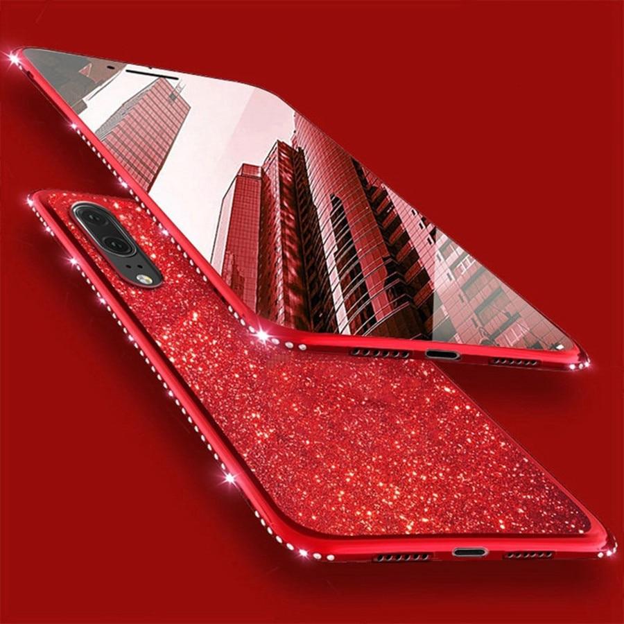 Phone Case For Huawei P30 Pro P20 Lite Case Huawei Mate 10 20 Lite Nova 3 3I Luxury Plating Glitter Diamond Silicone Back Cover