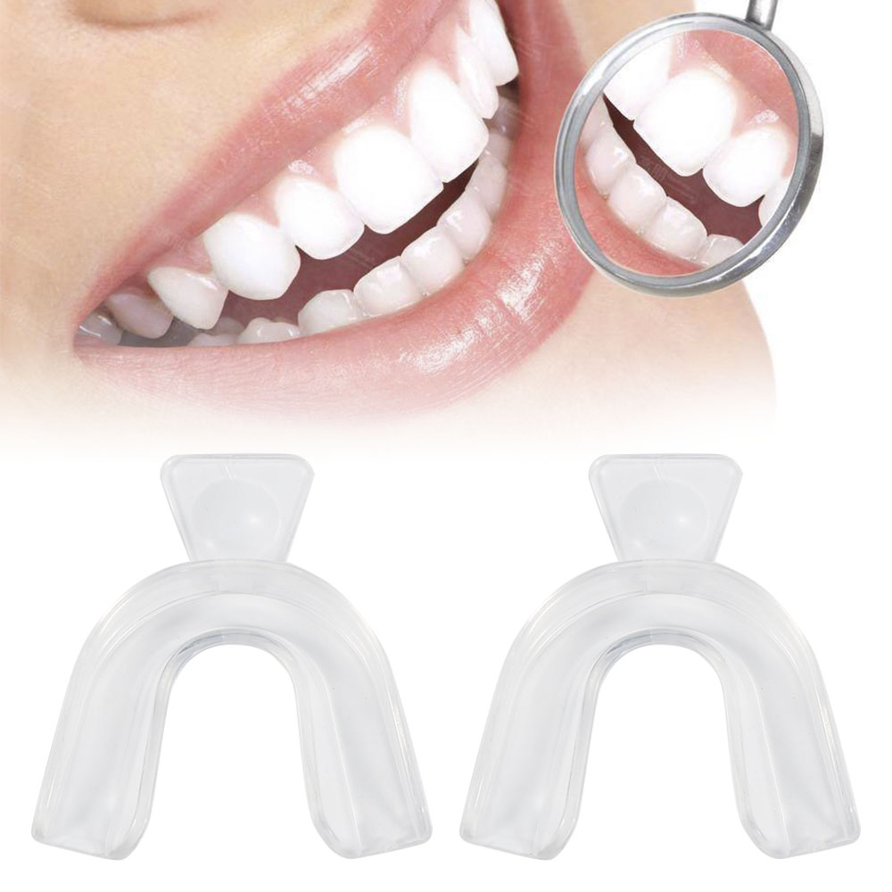 2Pcs Transparent Thermoforming Dental Mouthguard Teeth Whitening Trays Bleaching Tooth Whitener Mouth Guard Oral Care Tools