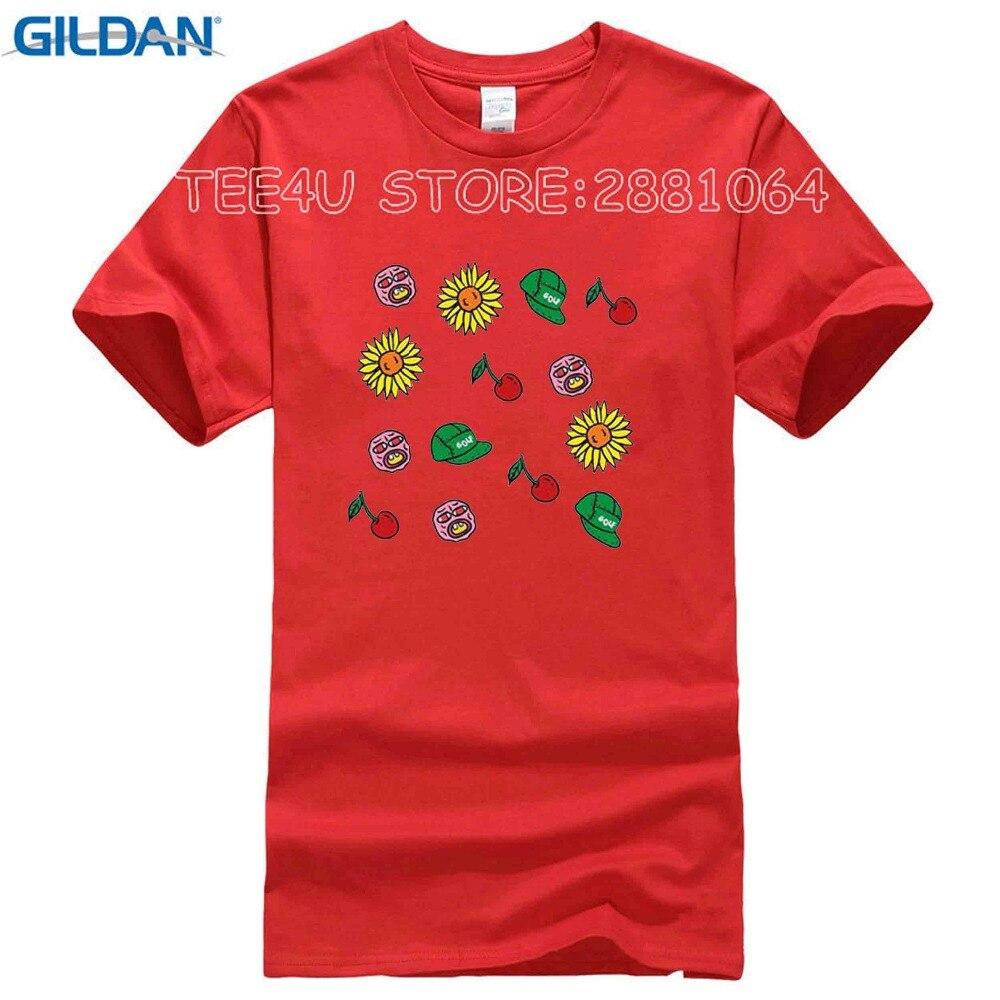 fbce69922f4f T-Shirts 2017 Brand Clothes Slim Fit Printing Odd Future T Shirts Golfing  Wang Hip Hop Cherry Flower Printed Tees Clothing