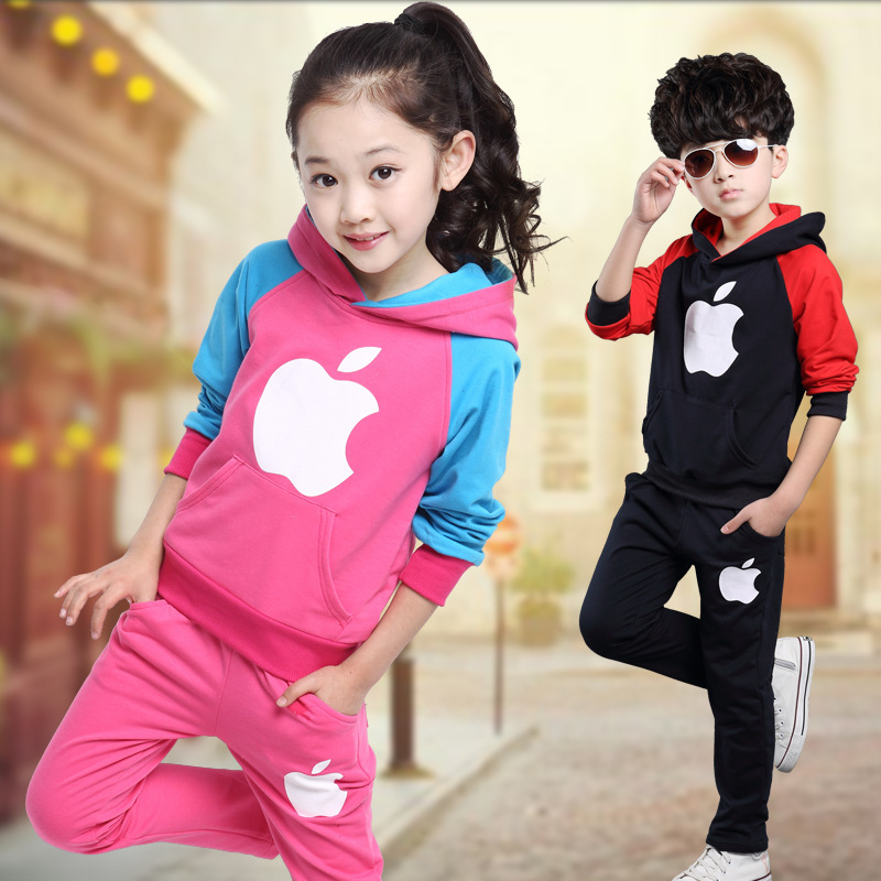 Fashion kids sport suit winter clothing children clothes boys and girls set child tracksuit outfits wear