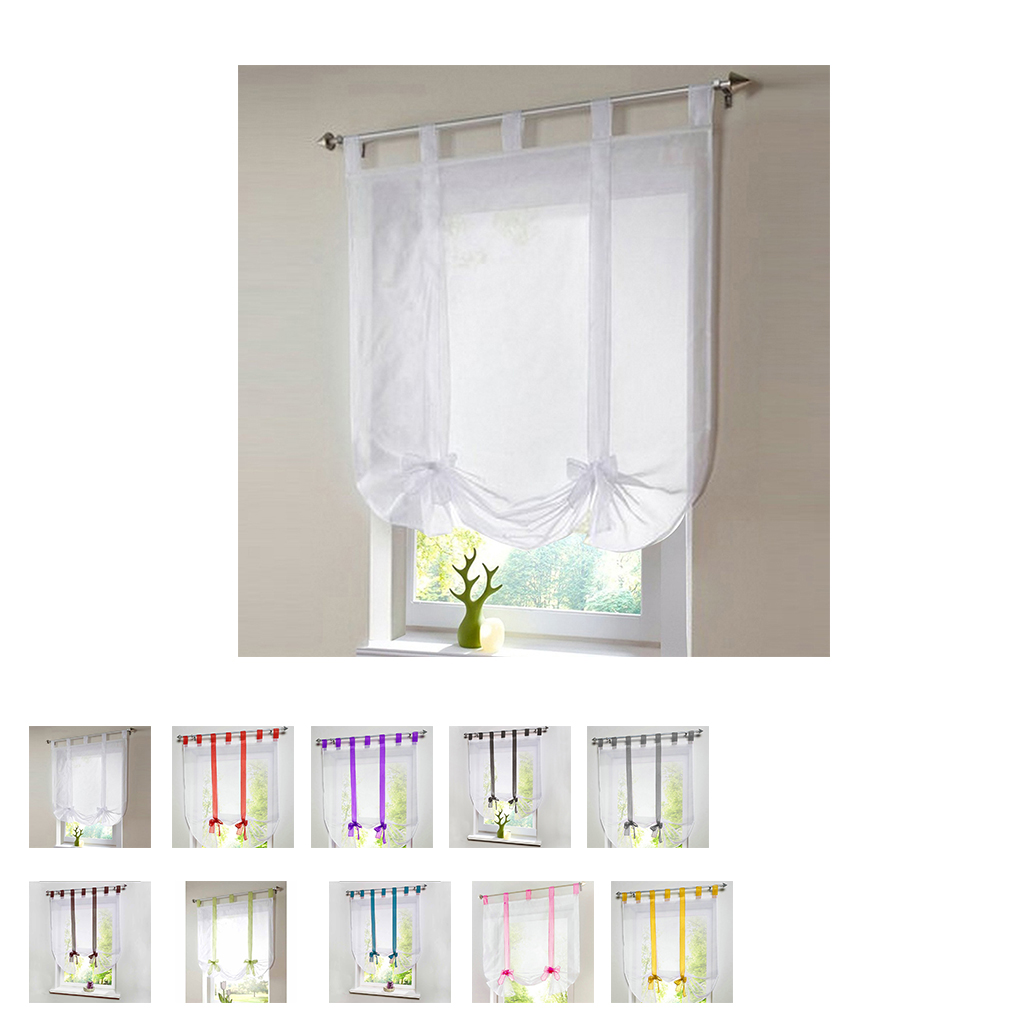 High quality home decoration curtains Rose pocket lift Roman