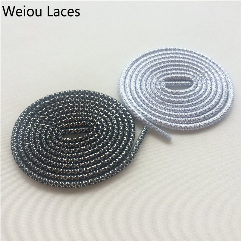 (30pairs/Lot)Weiou Casual Sport Shoelaces Round Sneaker Shoes Laces Running Sparkle Unique Bootlaces Athletic Shoe Laces Strings