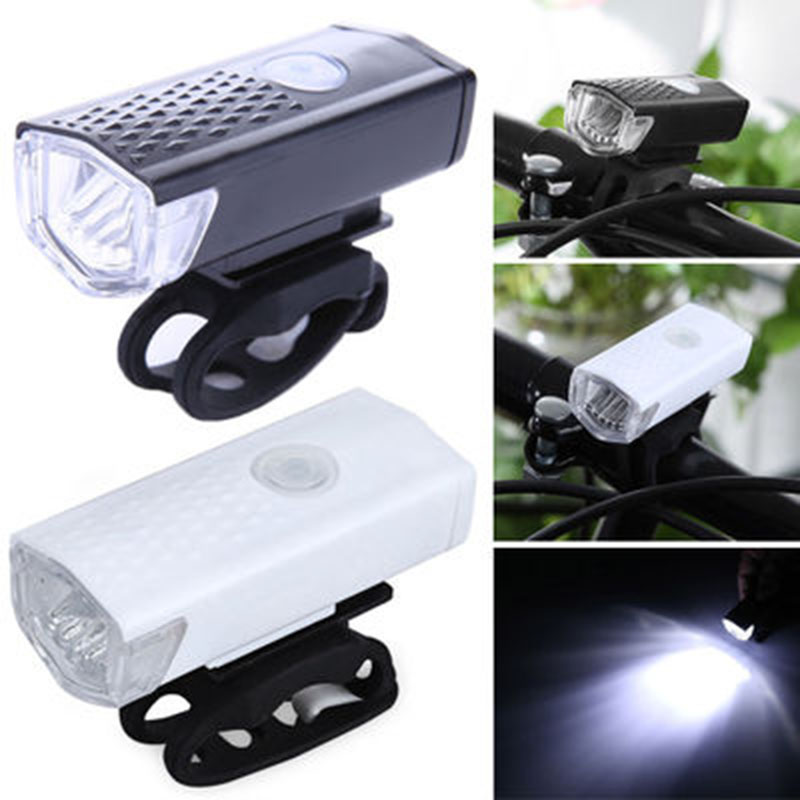 Bike Light USB Rechargeable 300 Lumen Bicycle Front Light Lamp Bike Headlight Cycling LED Flashlight Lantern