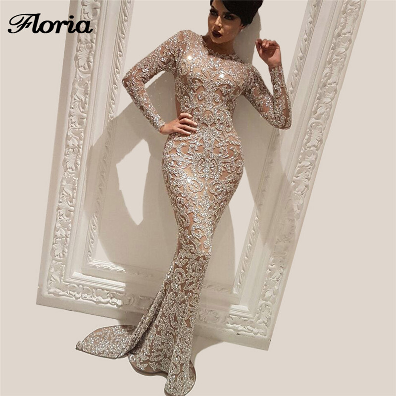 African Muslim Evening Dresses 2018 Aibye Arabic Turkish Shiny Pageant Prom Dress For Weddings Robe de soiree Kaftans Gowns(China)