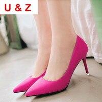 Black/Red/Nude D'Orsay patentowej skóry 6 cm bliski heel pompy, U & Z kobiety pointed toe obcasy, Sexy panie biurowe pompy Party shoes