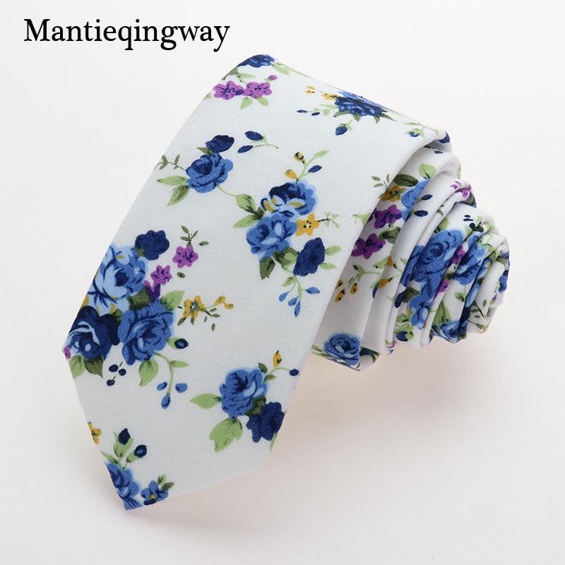 Mantieqingway Business Ties For Men Wedding Fashion Cotton Floral Necktie Tie Printed Skinny Mens Ties Slim 6cm Gravata Brand in Men 39 s Ties amp Handkerchiefs from Apparel Accessories
