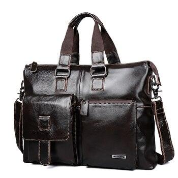 LUCKYERBEAUTY сумка мужская натуральная кожа портфель мужские сумки через плечо для ноутбука а4 натуральная кожа адвокат Файл су