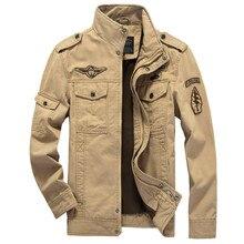 Jacke Männer Baumwolle Jean Military Jacken Plus Größe 5XL 6XL 2017 neuen Mantel Männliche jaqueta masculina Pilot oberbekleidung Denim Jacken