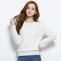 2017 New Cashmere Female Sweater Argyle Pattern Soft And Comfortable Pure Cashmere Pullover Women Long
