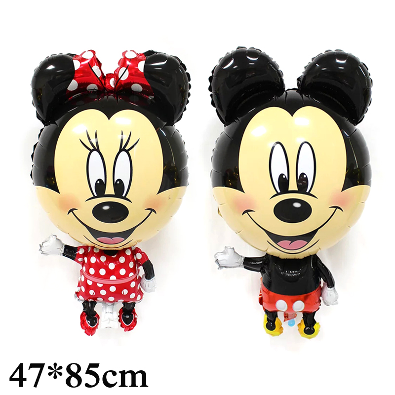 5pcs stand Mickey Minnie Foil Balloons mickey mouse inflatable helium balloon happy birthday balloon