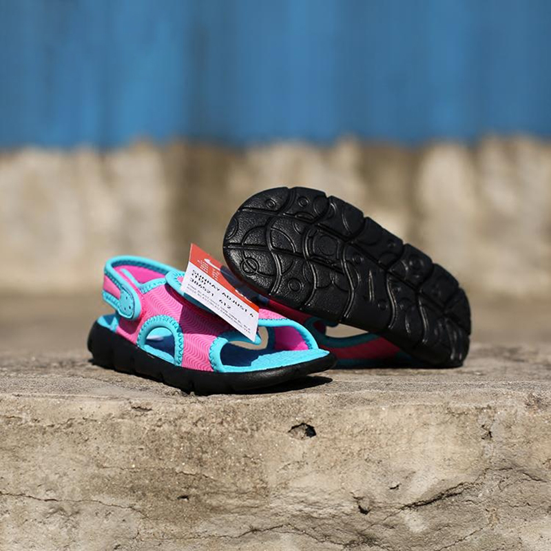 c49d2b63988099 Original NIKE SUNRAY ADJUST Summer Beach Kids Child Sandals Shoes Inside 12  16cm Beach Shoes Flat With Girls Sandals Shoes-in Sandals from Mother   Kids  on ...