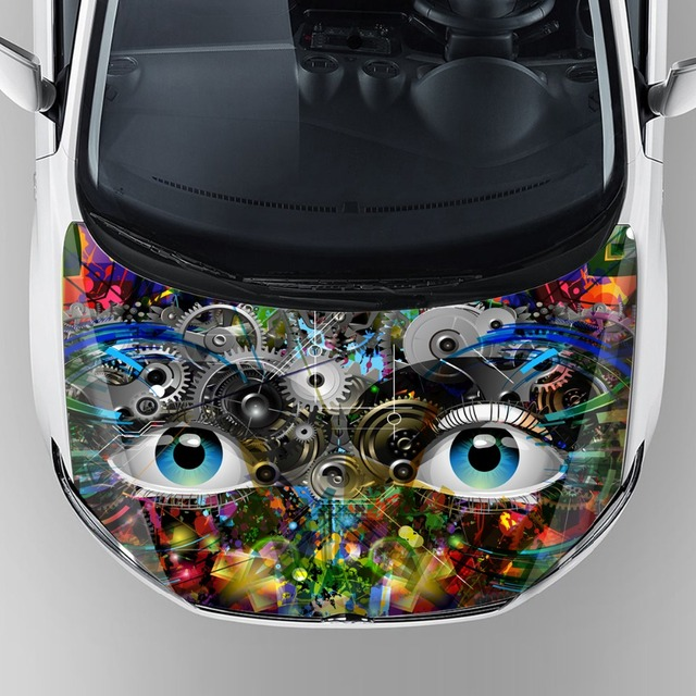 china suppliers new design fancy stickers car cartoon vinyl graphics print hood bonnet wrap vinyl film with removable adhesive