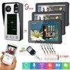 9 אינץ 1V3 אלחוטי WIFI שלט רחוק טביעות אצבע/IC כרטיס/סיסמא גישה בקרת וידאו דלת טלפון
